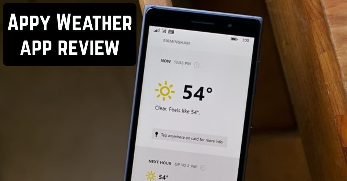 Appy Weather app review