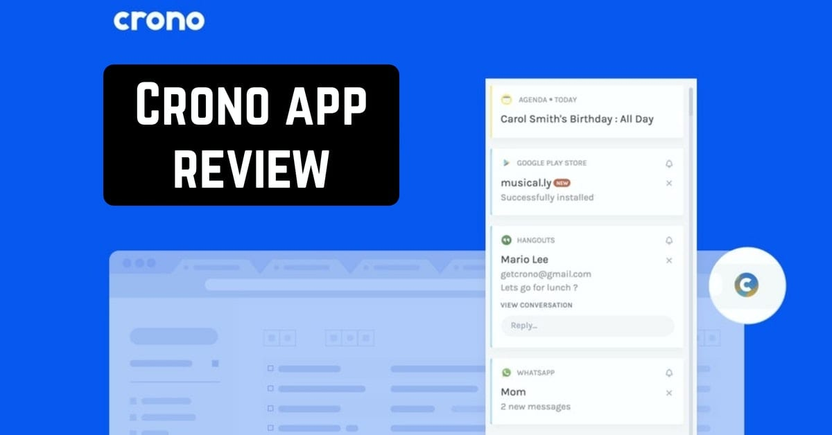 Crono app review