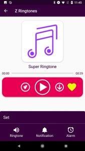 Z Ringtones screen 2