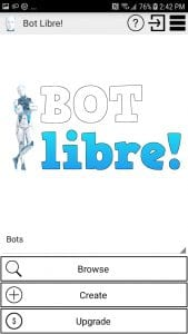 Bot Libre screen 1