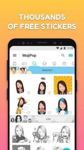 MojiPop screen 1