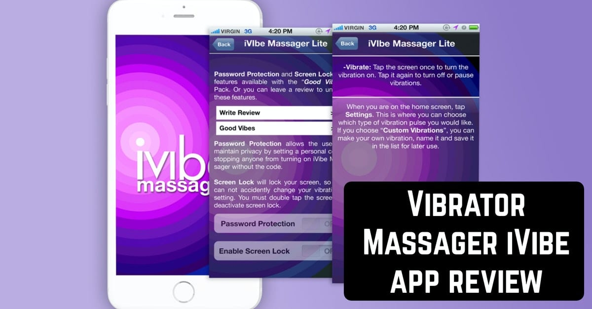 Vibrator Massager iVibe app review