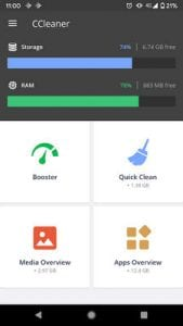 CCleaner Cache Cleaner, Phone Booster, Optimizer2
