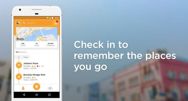 Foursquare Swarm Check In2
