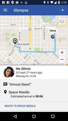 Glympse - Share GPS location1
