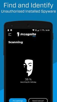 Incognito Spyware Detector - Anti Spy Privacy Scanner1