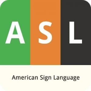 ASL American Sign Language logo