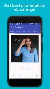 The ASL App screen 1
