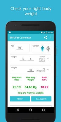 BMI Fat Weight Calculator2