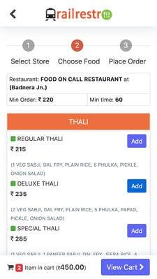 Railrestro - Order Food In Train2