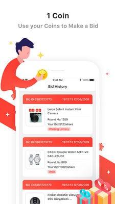 SnapBid Bid, Shop, Win2