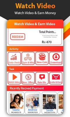 Watch Video Status Daily And Earn Money Win Reward2
