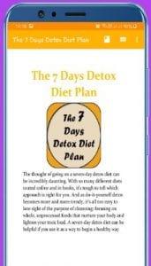 The 7 Days Detox Diet Plan