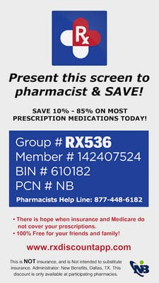 Cheap Prescriptions Discount Rx App by Machuca Design1