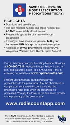 Cheap Prescriptions Discount Rx App by Machuca Design2