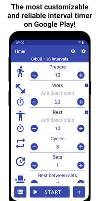 Tabata Timer Interval Timer Workout Timer HIIT by Eugene Sharafan1