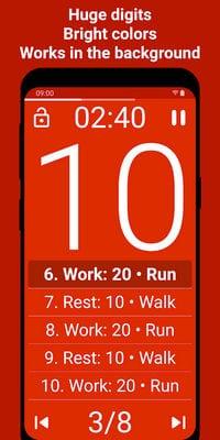 Tabata Timer Interval Timer Workout Timer HIIT by Eugene Sharafan2
