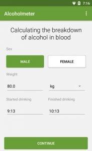 Alcohol Check - BAC Calculator1