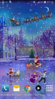 Christmas Rink Live Wallpaper by 7art Studio1