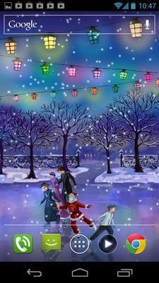 Christmas Rink Live Wallpaper by 7art Studio2