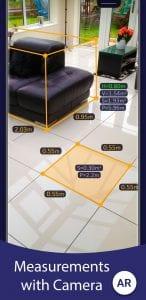 AR Ruler App screen 1