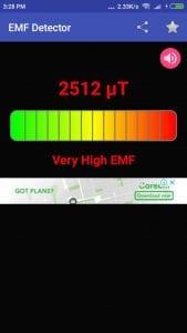 EMF Detector screen 1