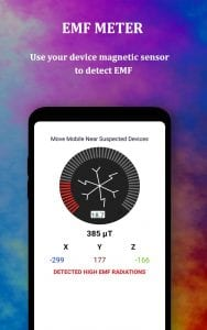 EMF detector and Emf meter screen 1