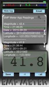 Metal Detector / EMF Meter screen 2