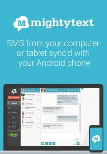 MightyText screen 1