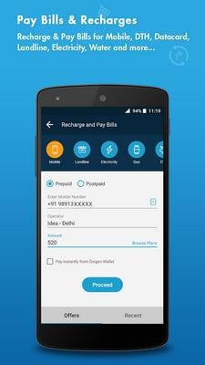 Oxigen Wallet Bill Payment & Recharge,Wallet2