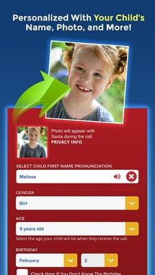 Personalized Call from Santa (Simulated) by www.PackageFromSanta.com1