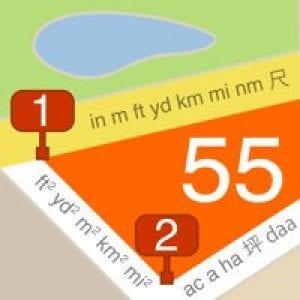 Planimeter 55. Measure on map