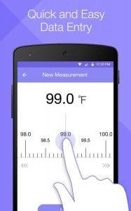 Temperature Diary screen 2