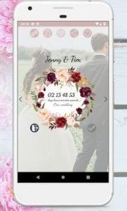 Wedding Countdown Boho Vintage Flower Widget1