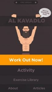 We're workout out – Al kavadlo screen 1
