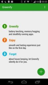 Greenify screen 1