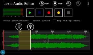Lexis Audio Editor screen 1