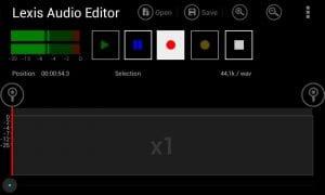 Lexis Audio Editor screen 2