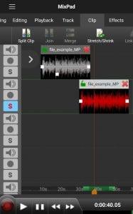 MixPad Multitrack Mixer Free screen 2