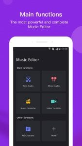 Music Editor screen 1