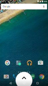 Swipeup Utility screen 1