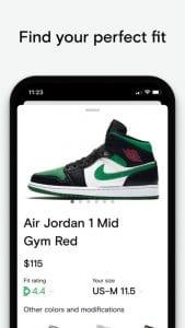 Neatsy - AI sneaker fit finder screen 1