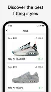 Neatsy - AI sneaker fit finder screen 2
