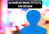 AlphaBlur Image Effects app review