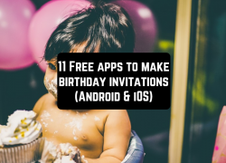 11 Free apps to make birthday invitations (Android & iOS)