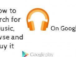 How to search for music, browse and buy it on Google Play