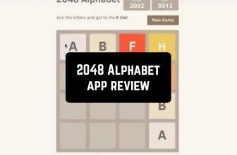 2048 Alphabet App Review