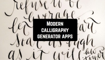 8 Modern calligraphy generator apps for Android & iOS
