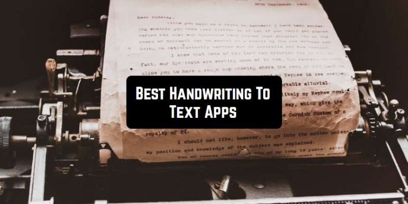 11 Best Handwriting To Text Apps for Android & iOS